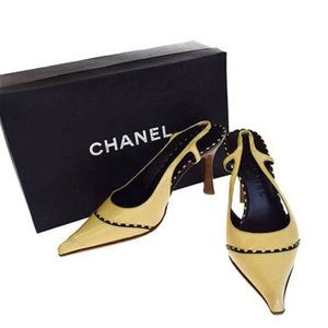 🆕 Chanel CC stitching slingback pumps 💃🏻